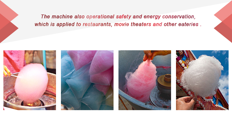 CE Approved 220V Cotton Candy Machine With Cart
