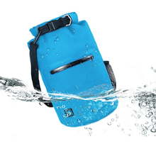 New 500D PVC Tarpaulin Dual Adjustable Shoulder Strap Zipper Waterproof Dry Bag