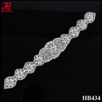 crystal pearl new acrylic iron on rhinestone trimmings for wedding wholesale