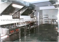 Four Burner Cooking Range with Exhaust Hood