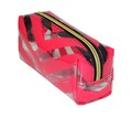 Women And Lady Leather Transparent Makeup Bag