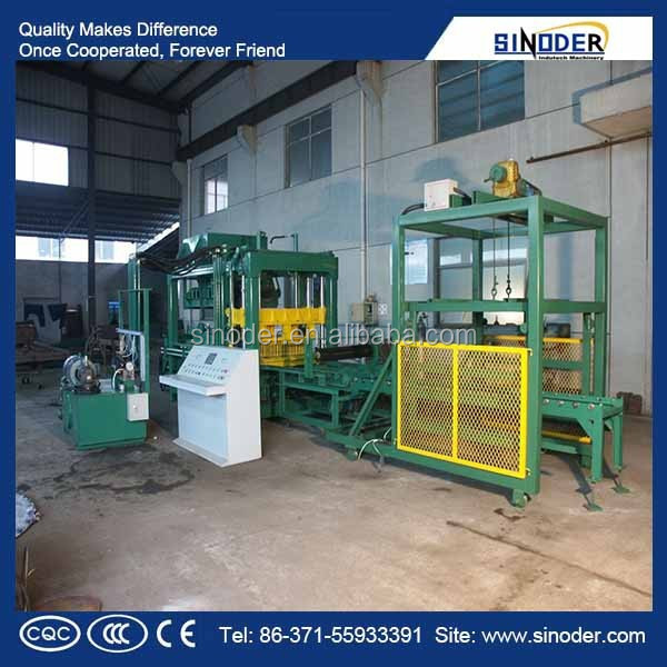 Sinoder Brand Brick Molding Machine Processing and Concrete Brick Raw Material Stationary Concrete Brick Making Machine