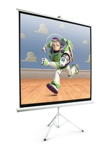 Low price latest car advertising tripod projector screen