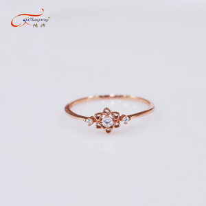 Beautiful design gold plating silver simple ring fake gold jewelry