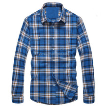 2016 Customized wholesale mens winter thick warm used flannel checker shirts