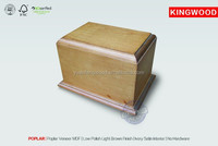 unfinish wood box wholesal urn POPLAR wood veneer MDF URNS