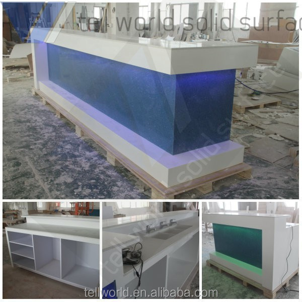 2017 Newest design solid surface diamond bar counter, modern design bar counter