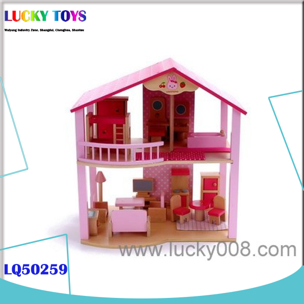 wooden house for doll furniture building CHRITMAS gift miniature model house diy craft products miniature dollhouse furniture