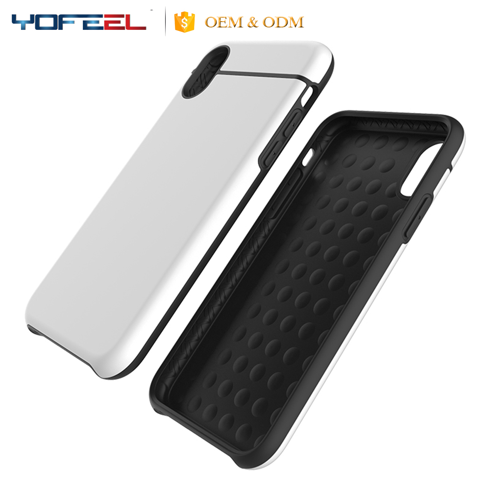 new patent wholesale tpu combo hybrid case for iphone, plastic mobile phone case for iphone X