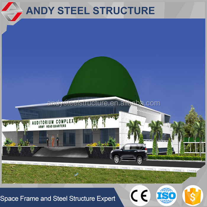 Steel dome type roof design