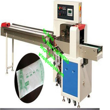 Automatic plastic roll film packaging machinery/bread/cookies/biscuits bags flow type packing machine