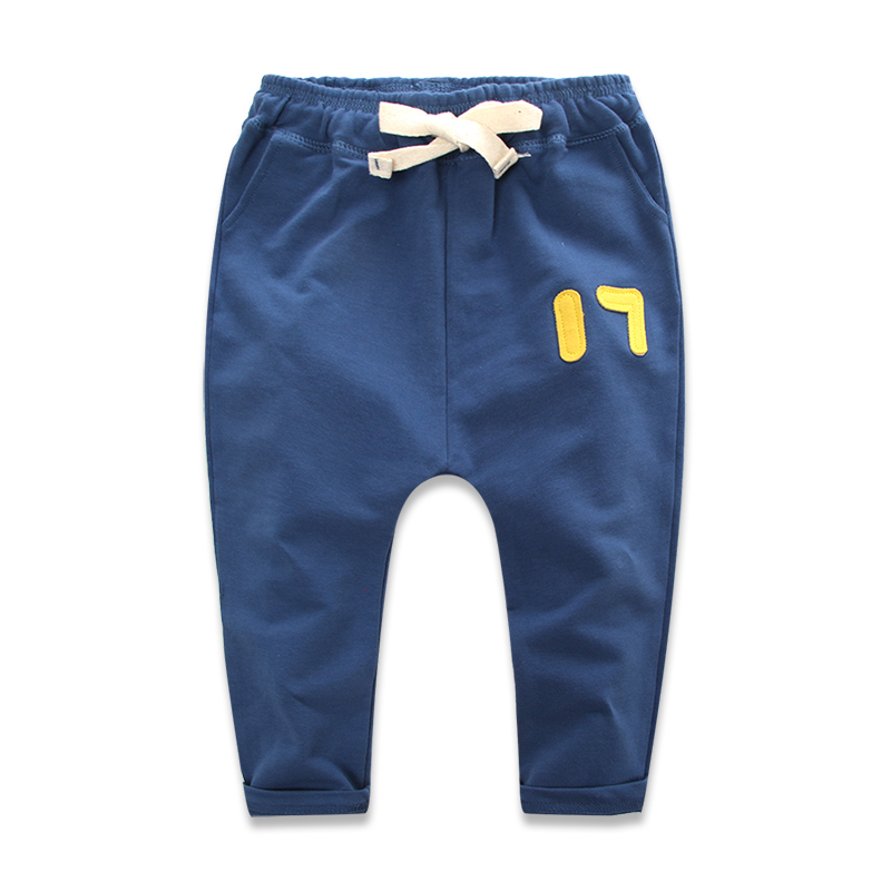 4 Color 2-7 Years Old Toddler Boys Harem Pants Cotton Terry Solid Casual Sport Pants For Baby Boy 2015 New Autumn Kids Trousers