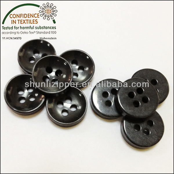 STAR round black shirt buttons