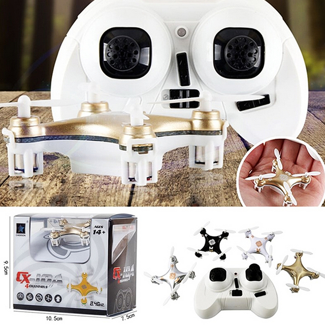 Big Promotion Sales RC Helicopter Cheerson CX-10A RC Quadcopter 4CH 2.4GHz Headless Drone Mode vs CX-10 CX10 - white Color