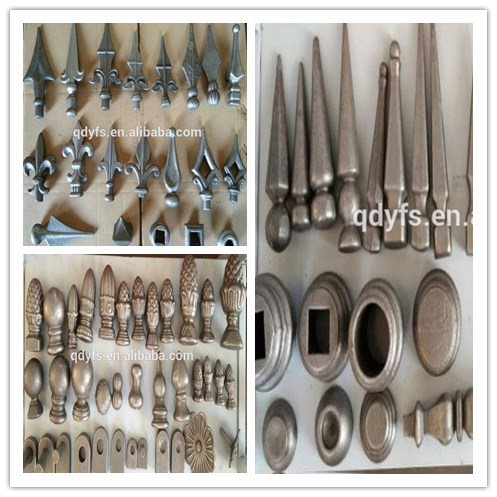 Ornamental wrought iron fence spear parts