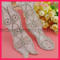 wholesale fashion new arrival rhinestone crystal roll with transparent beads WRA-373