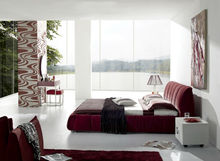 alibaba france, bedroom furniture, modern furniture M8005 red bed