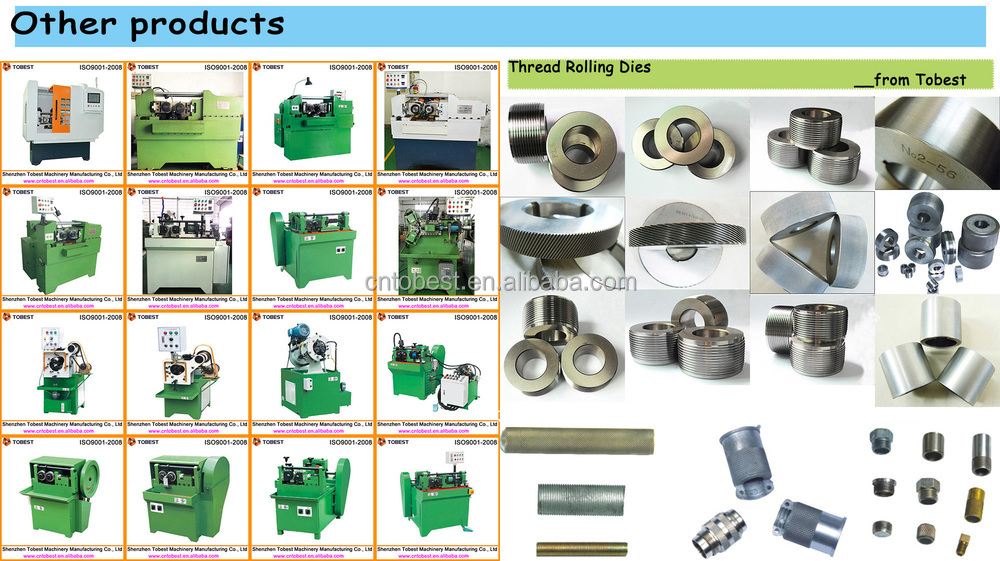 auto feeder type thread rolling machine bolt and nut making machine