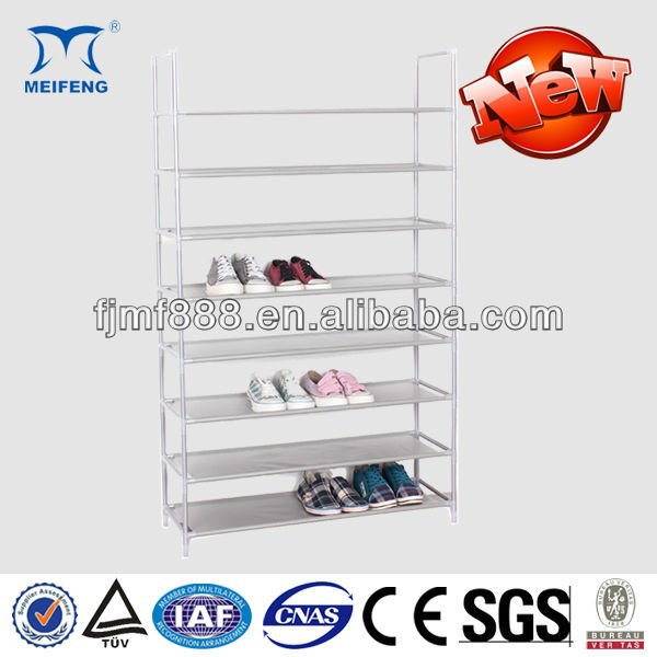 Meifeng 8-layer Scalable Wrought Iron Shoe Rack