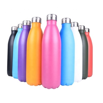 17 Oz Stainless Steel Sports Vacuum Insulated Water Bottle | Double Walled Cola Shape Thermos |Reusable Metal Water Bottle