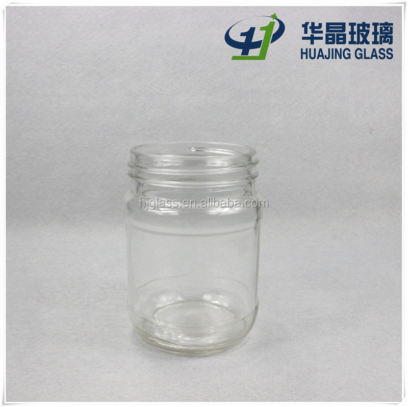 Wholesale 12 oz glass jars for 500g honey with metal lid