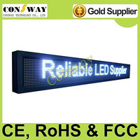 Free shipping CE approved big board advertising led display with white color and multi-language