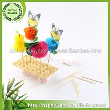 Custom personalized packing art Bamboo toothpicks
