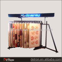 360 degree rotating rug display stand for shop
