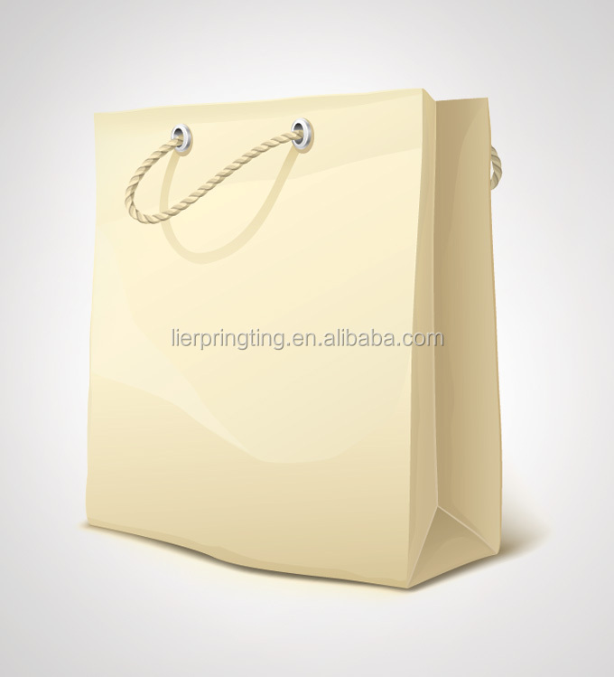 China direct wholesale Custom paper shopping gift bag with eyelet handle