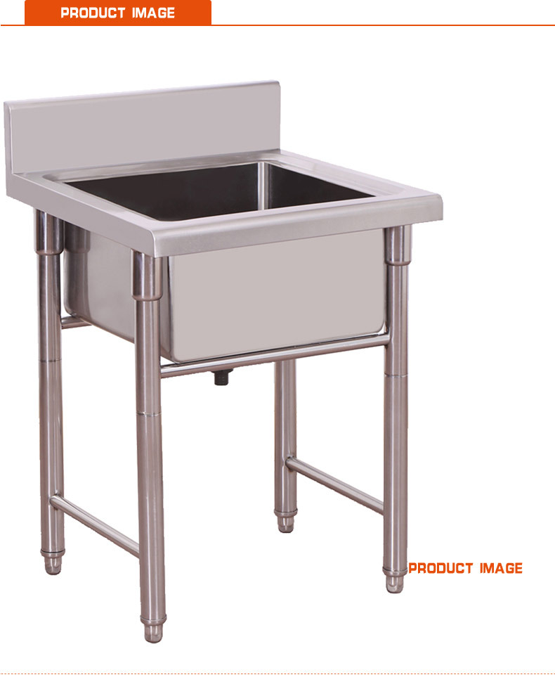 square single bowl industrial hotel commercial kitchen