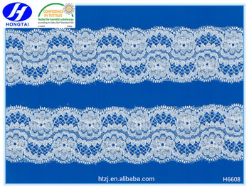 hot sell 100 percent cotton nylon spandex stretch knitted 3d lace fabric for wedding dresses