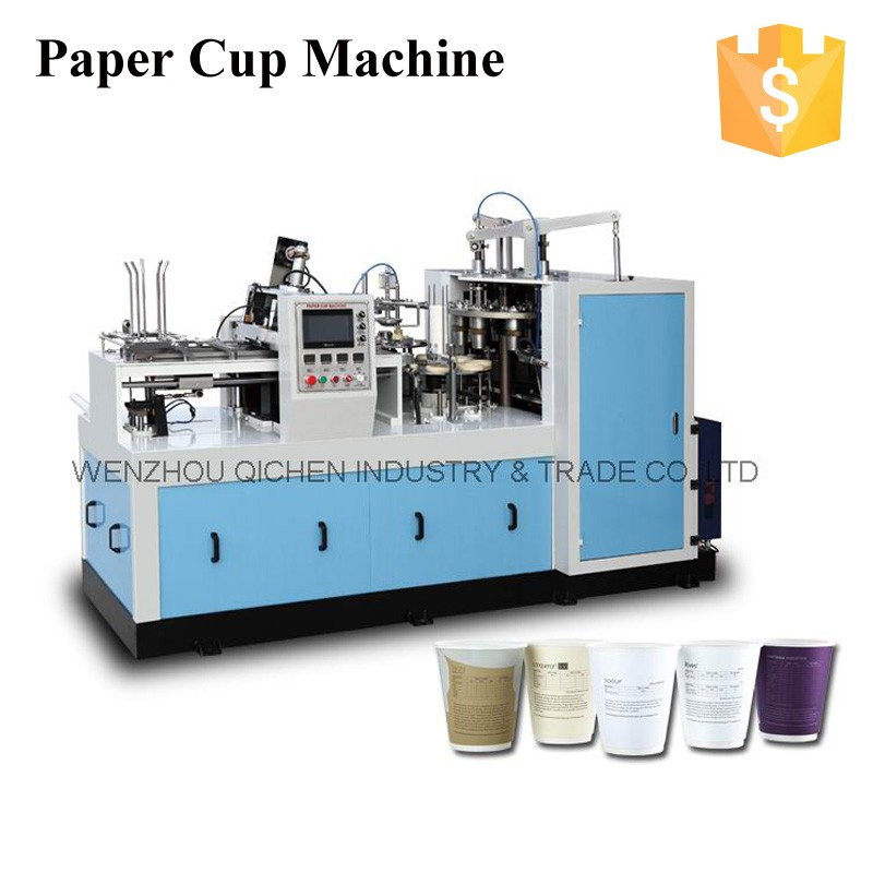 Easy Operating Low Power ZBJ-X12 Middle Speed Ultrasonic jbz a12 paper cup machine