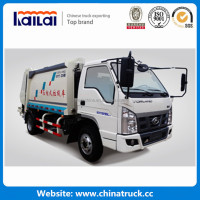 Forland 4x2 120hp 4 Ton 5 Cubic Meters Small Garbage Compactor Truck for sale