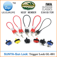 SUNYA 24 months warranty gun lock for rifle ,pistol,zinc alloy die-casted includes manual , 4 types in option (Sunya GL-001)