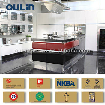 Lacquer modern kitchen designs for hot sale