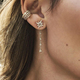 top selling 100% 925 sterling silver ear cuff no pierced stack cz cuff earring