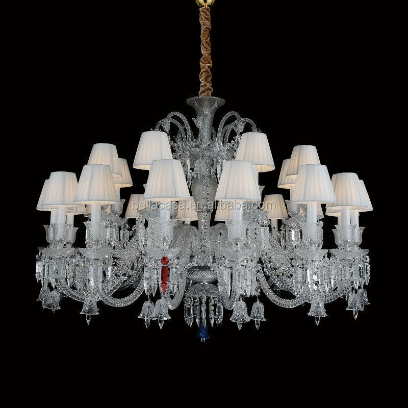 2015 Hot Sale 24 Lamps Clear Egypt Crystal Glass Chandelier Lighting