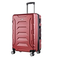 professional OEM 4 spinner wheeled ABS + PC trolley suitcase luggage bag