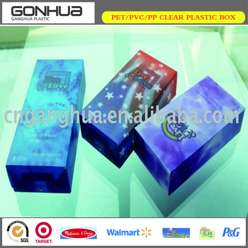 High quality cheap new design printing decoration utility 3D transparent plastic stationery box with lid