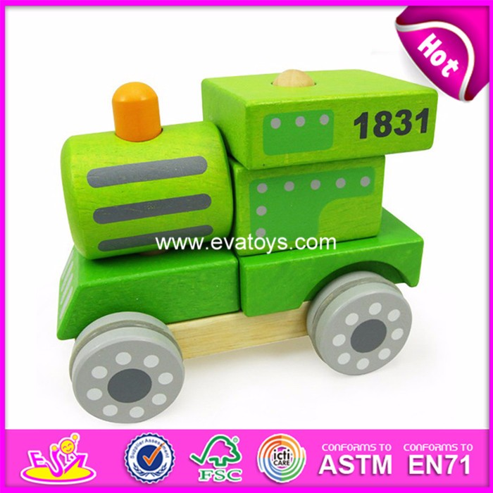 2017 Cheap kid's car toy,mini different colors wooden car W04A341