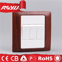 1 gang 3 way switch, electrical light switch, British style 10A 250V modern light switches
