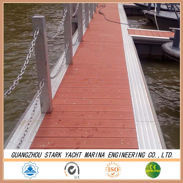 Hot Dipped Galvanized Steel Frame floating dock With Qualified Decking