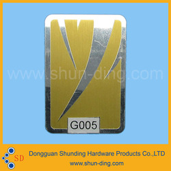 Factory Direct Sales Customized self- adhesive car audio brand logo metal label