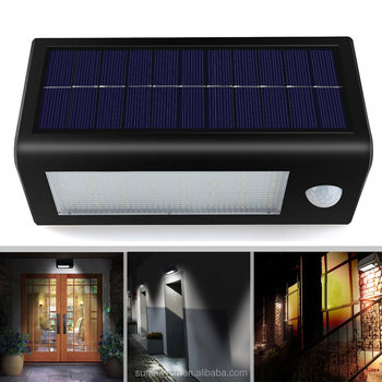 SUNERGY Waterproof Solar security Light with PIR Motion Sensor Detector Wall Sconces