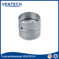 high quality brand product VENTECH round steel back draught Damper one way shutter hvac system