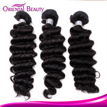 Easily Used Yaki Deep Wave 8-32'' inch Hair Weave,100% Peruvian Virgin Human Brazilian Deep Wave Hair.