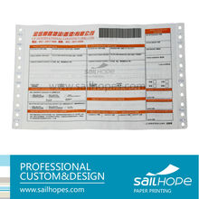 Professional self-adhesive airway courier bill <strong>printing</strong> with barcode