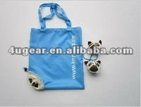 Promotion colorful nylon dog folding shopping bag