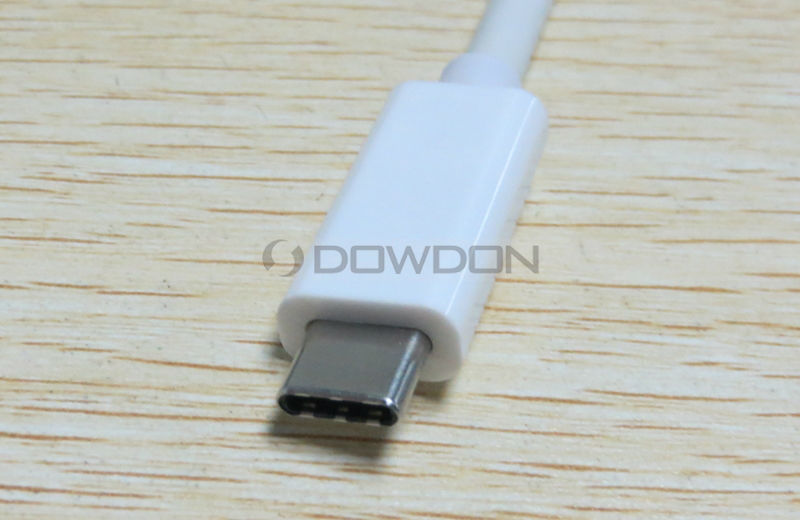 Aluminium USB 3.1 Type C to VGA 1080p HDTV Adapter Cable for Macbook PC Laptop