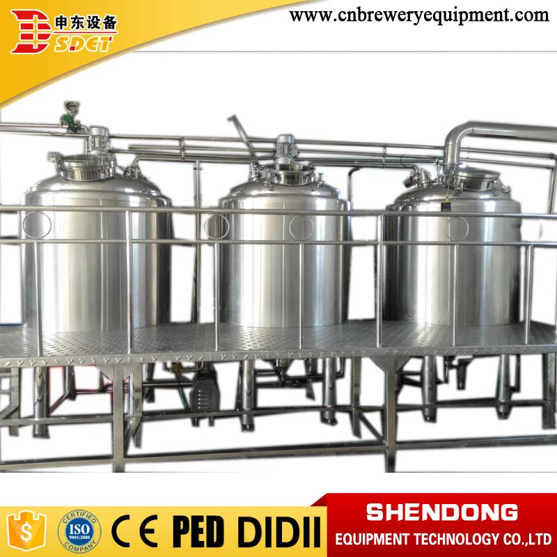 1000l 2 vessels stainless steel craft beer brewing equipment